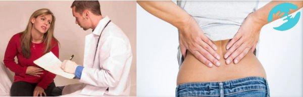 Болит низ живота и поясница причины у женщин и температура